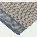Tapis de cuisine en coton - bleu 60x120cm-SHIVA