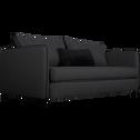 Canapé 3 places convertible en tissu gris calabrun-SAOU