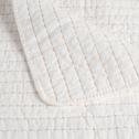 Couvre-lit en coton blanc ventoux et beige roucas 230x250cm-CASTEL