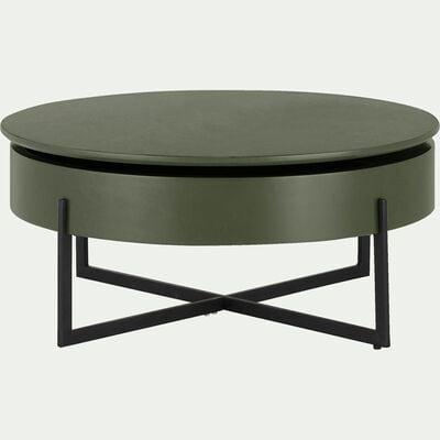 Table Basse Table Basse Ronde Bois Metal Alinea