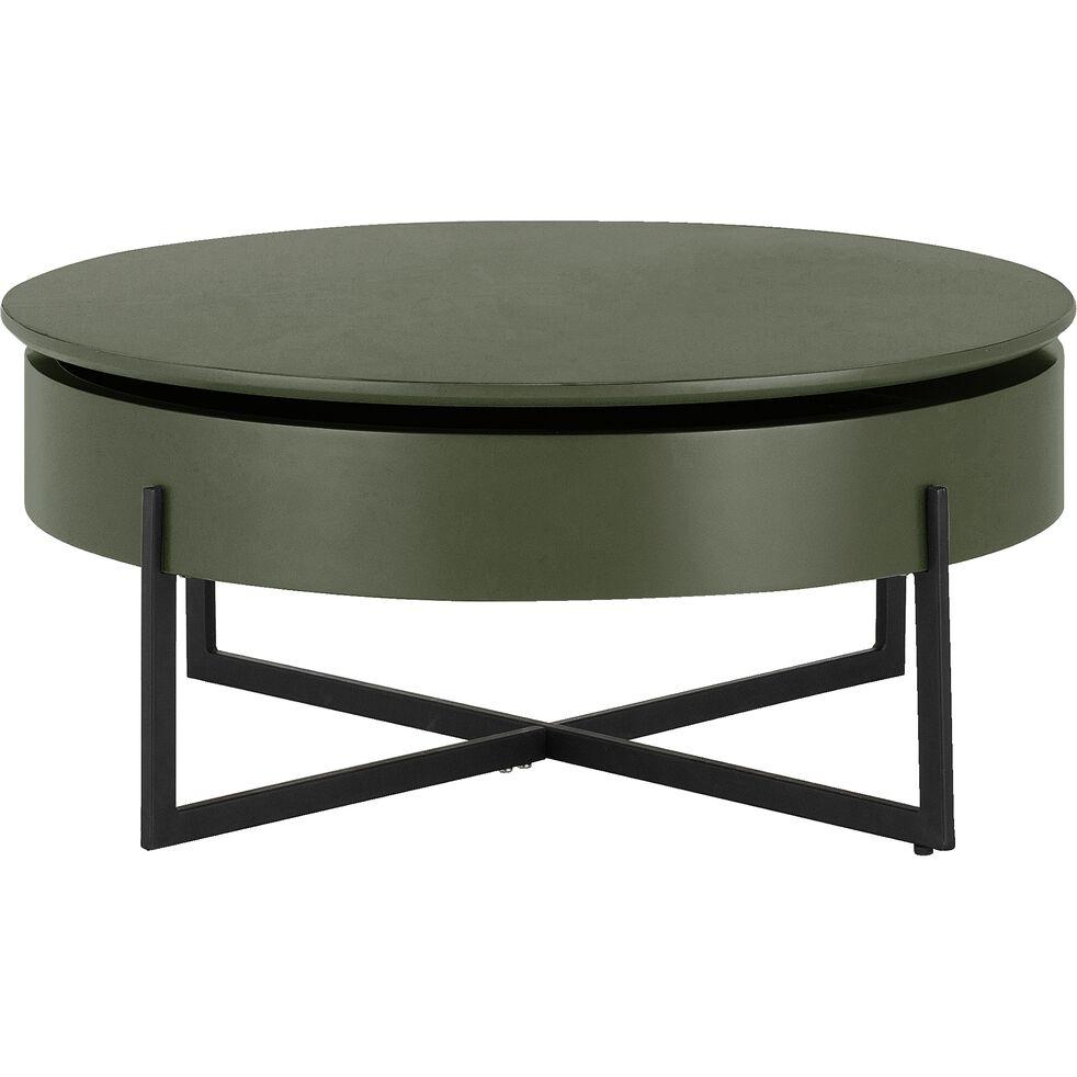 Table Basse Ronde Avec Plateau Rotatif Vert Cedre H37 5xd85cm Choucas Table Basse Ronde Alinea