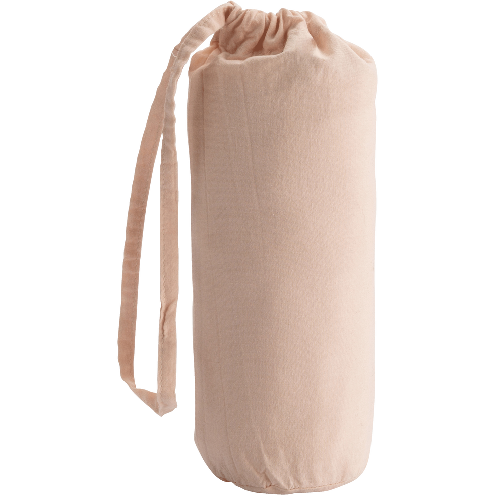 Drap housse en percale de coton lavé 60x120cm rose argile-PALOMA