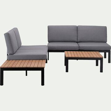 Salon de jardin gris (4 places)-PHEBUS