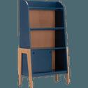 Bibliothèque en acacia pour enfant bleu figuerolles-RAPHAEL