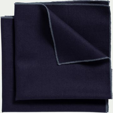 Lot de 2 serviettes de table en lin et coton bleu myrte 41x41cm-MILA