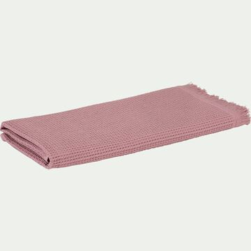 Serviette rose 50x100cm-JELENA