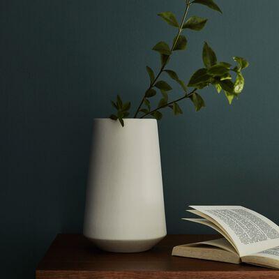 Grand vase en céramique - blanc ventoux H25cm-BISEL