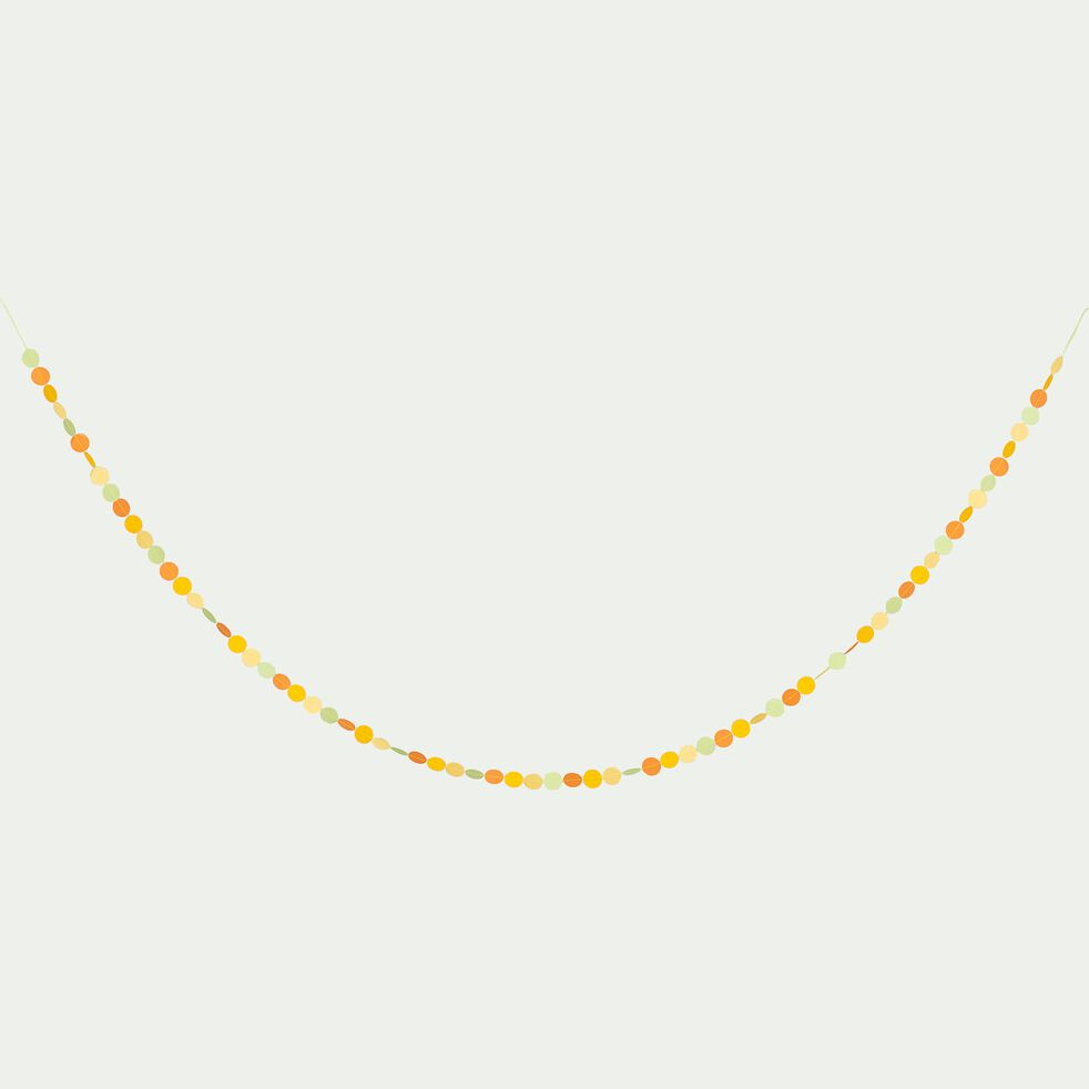 Guirlande décorative ronds l3m - multicolore vert-Linda