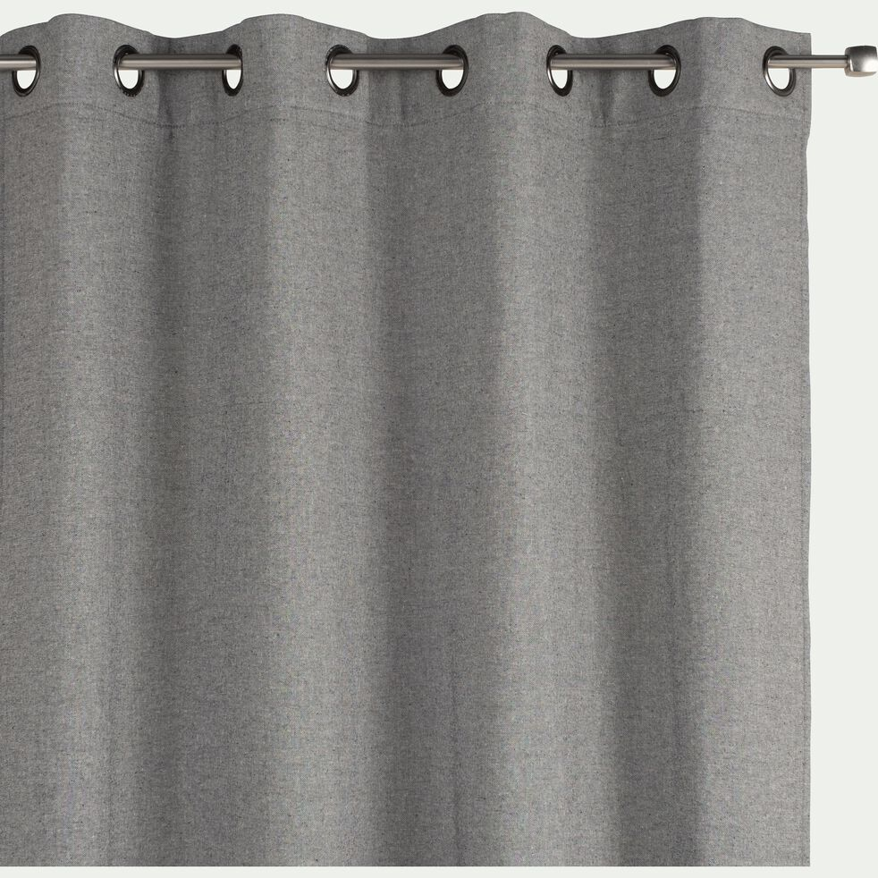 Rideau à œillets en lin et coton - gris restanque 140x250cm-CEZE