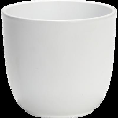 Pot blanc mat en céramique (plusieurs tailles)-TUSCA