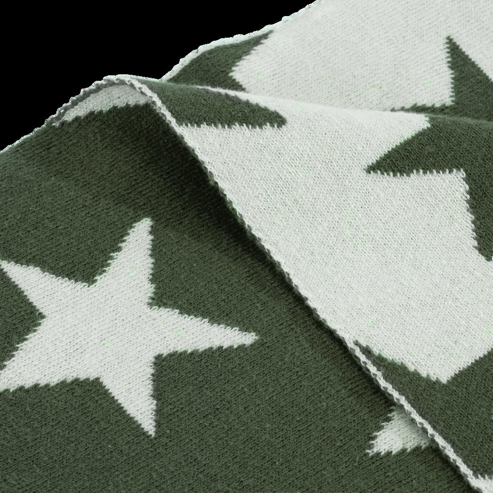 Plaid vert cèdre à motifs pour enfant-DIANE