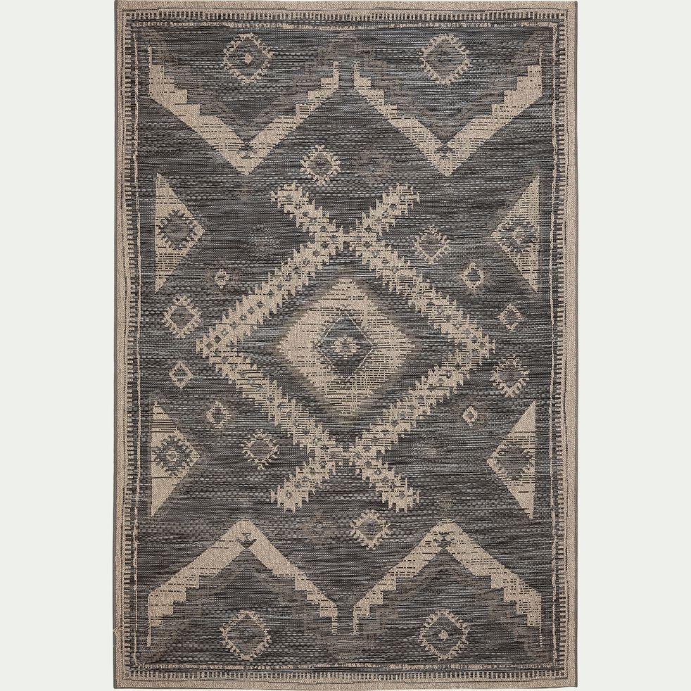 Tapis aux motifs traditionnels - noir 120x170cm-BALI