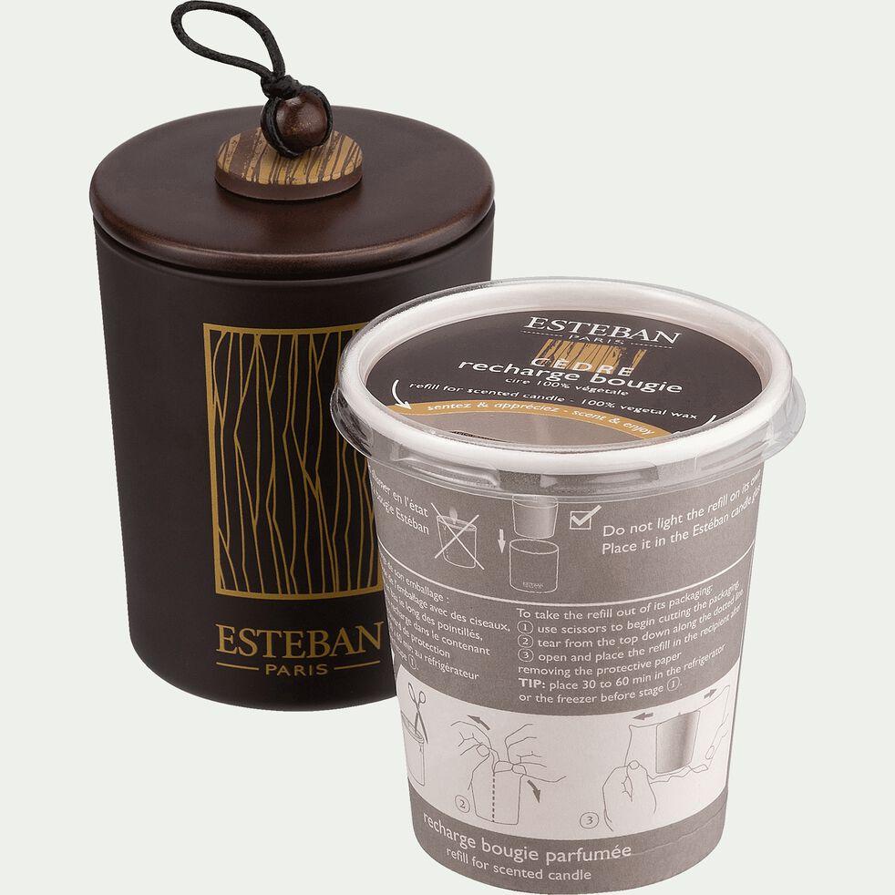 Recharge bougie parfumée cèdre 170g-CEDRE