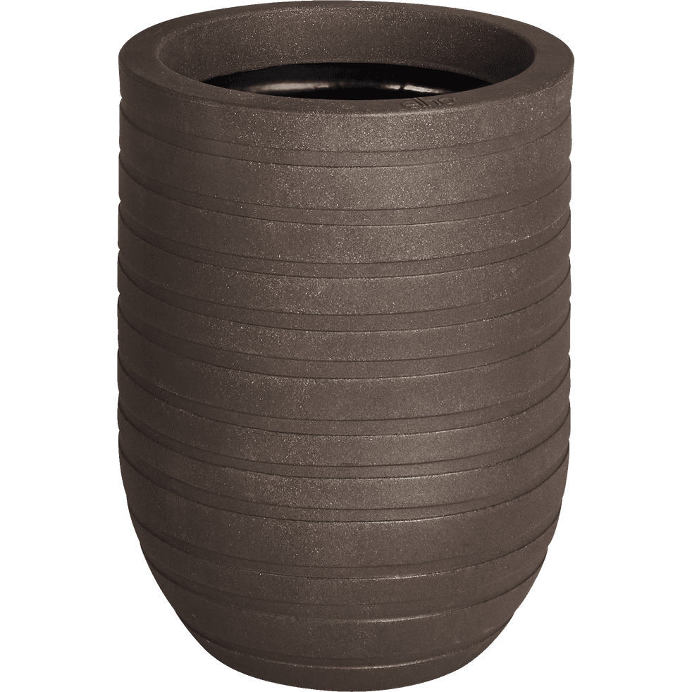 Cache-pot marron en plastique H43xD35cm-ALLURE
