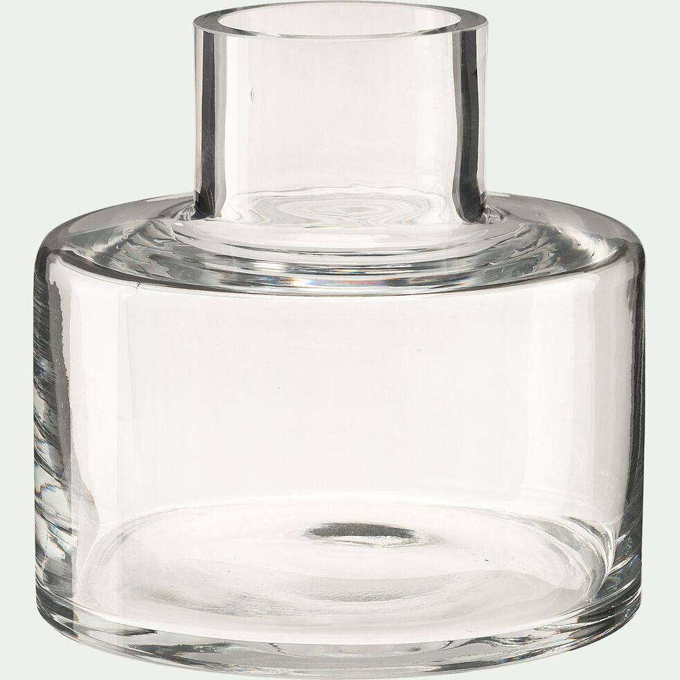 Vase bouteille en verre - transparent D15xH15cm-ALBIZIA