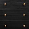 Commode 4 tiroirs en pin massif Noir-LISON
