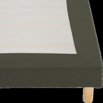 Housse pour sommier Topaze Vert cèdre - 140x200 cm-TOPAZE