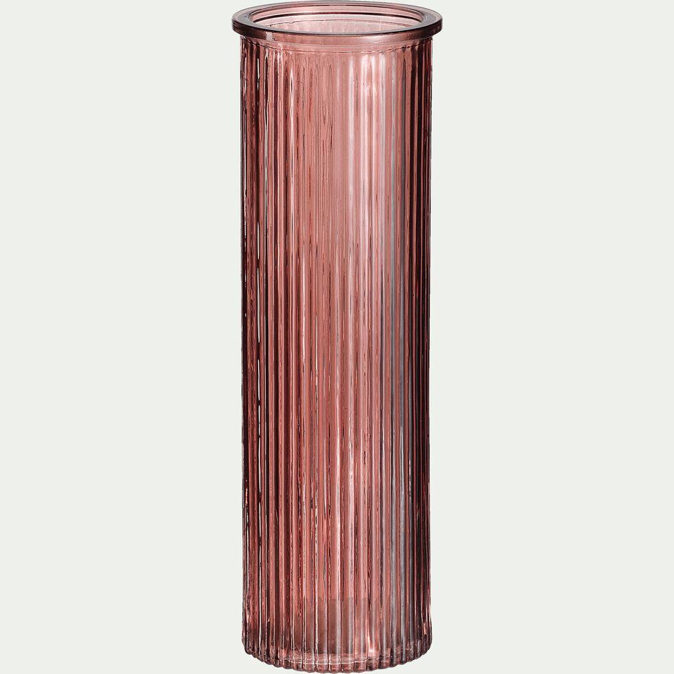 Vase verre rouge H20cm-EZIO