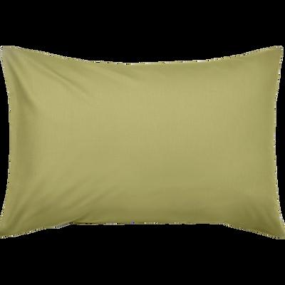 Lot de 2 taies d'oreiller en coton Vert guarrigue 50x70cm-CALANQUES