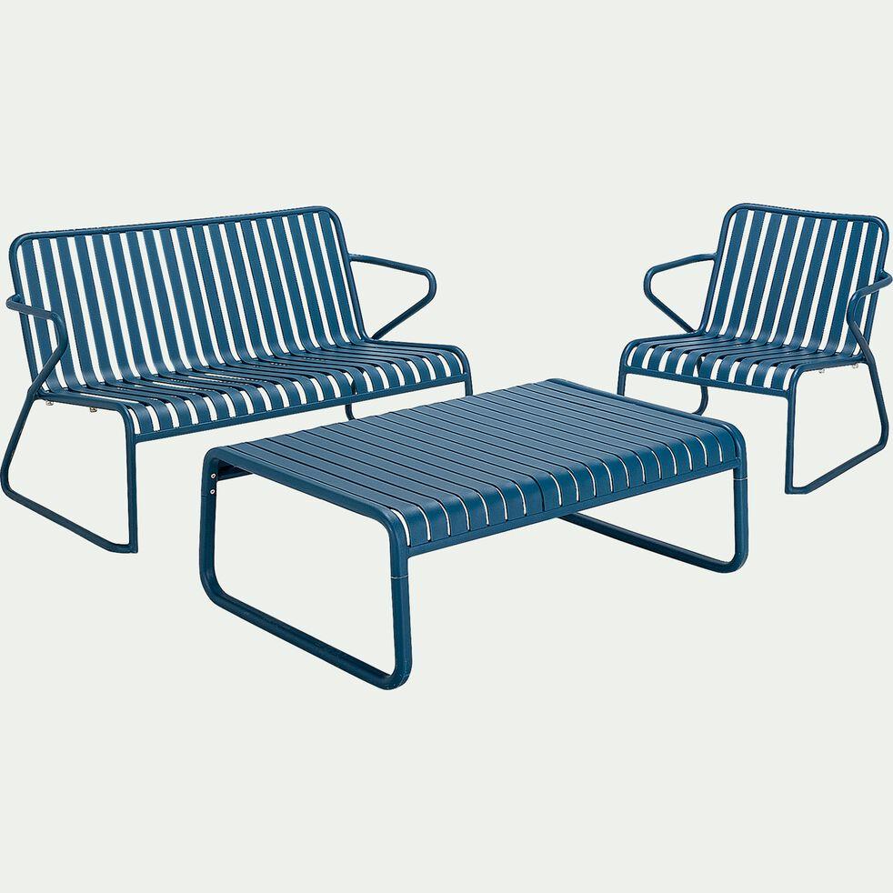 Fauteuil de jardin en aluminium - bleu figuerolles-Doume