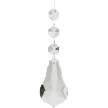 Suspension diamant en verre H6,4cm-ALIZIAS