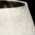 Photophore en aluminium argenté D20xH12cm-MAIA
