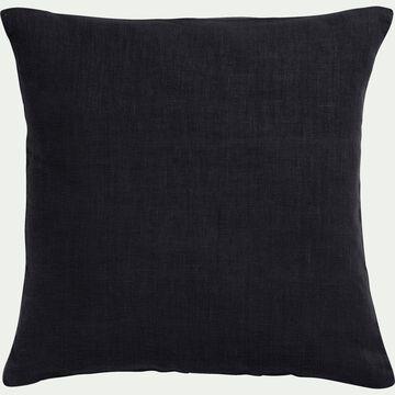 Coussin en lin lavé - gris calabrun 45x45cm-VENCE