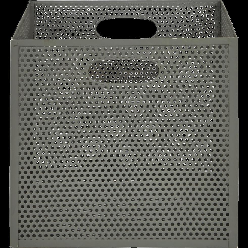 Caisse de rangement en métal vert L31xl31xH30cm - PIA - boîtes de rangement - alinea