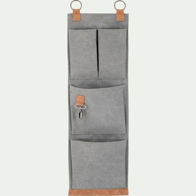 Range outils de jardin en coton gris 74x23cm-ARTIGUES