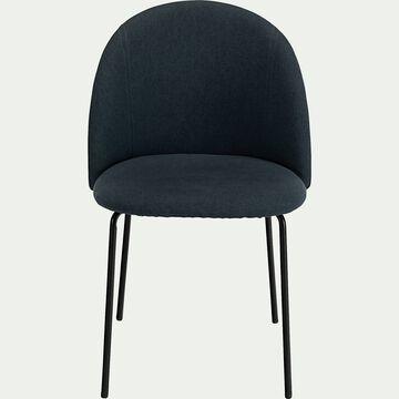 Chaise ronde en tissu - bleu céou-FIONA
