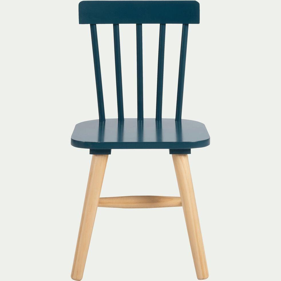 Chaise enfant en hêtre massif bleu figuerolles-HELGA