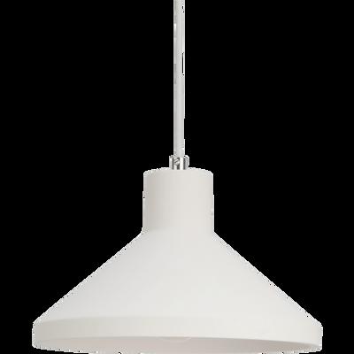 Suspension en plâtre blanc D25cm-GIPSY