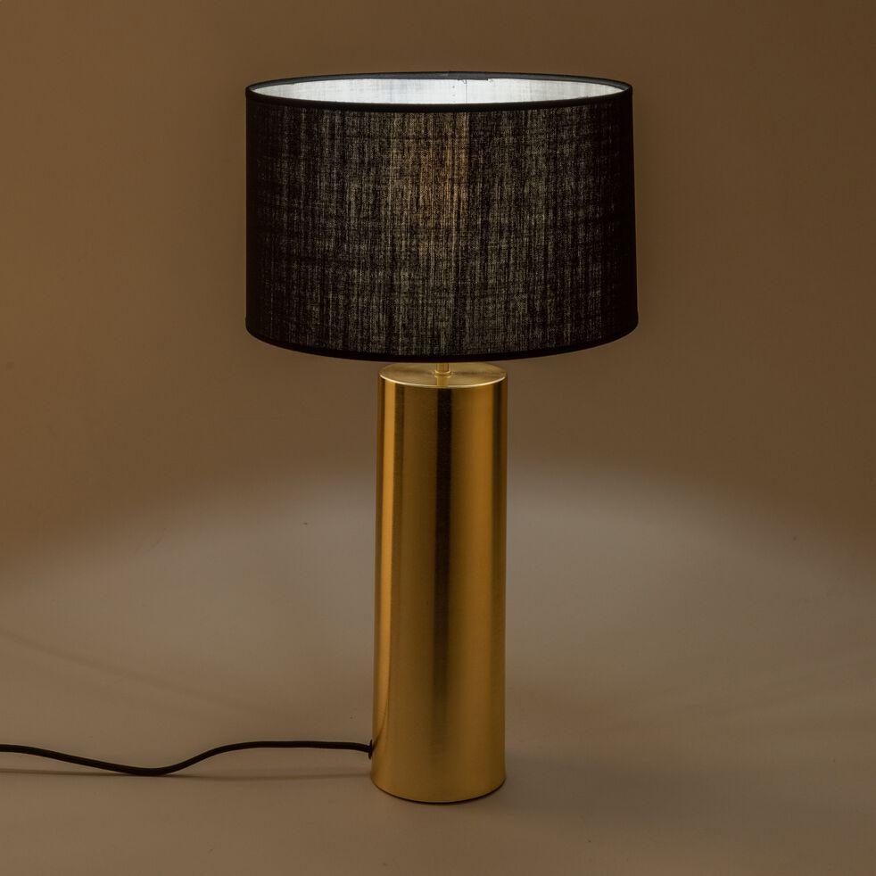 Lampe en acier doré - noir H41cm-AGATHA
