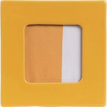 Cadre photo en céramique - jaune 17,5x17,5cm-CAPUCINES