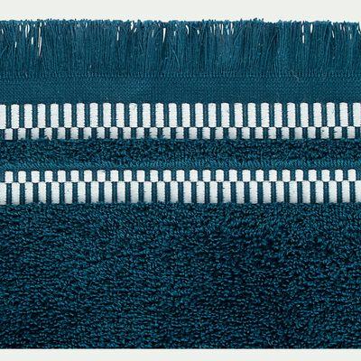 Linge de toilette en coton peigné- bleu figuerolles-GARANCE