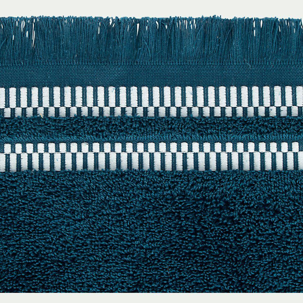 Linge de toilette en coton peigné - bleu figuerolles-GARANCE
