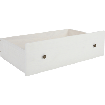 2 tiroirs de lit à roulettes blancs en pin massif-LISON