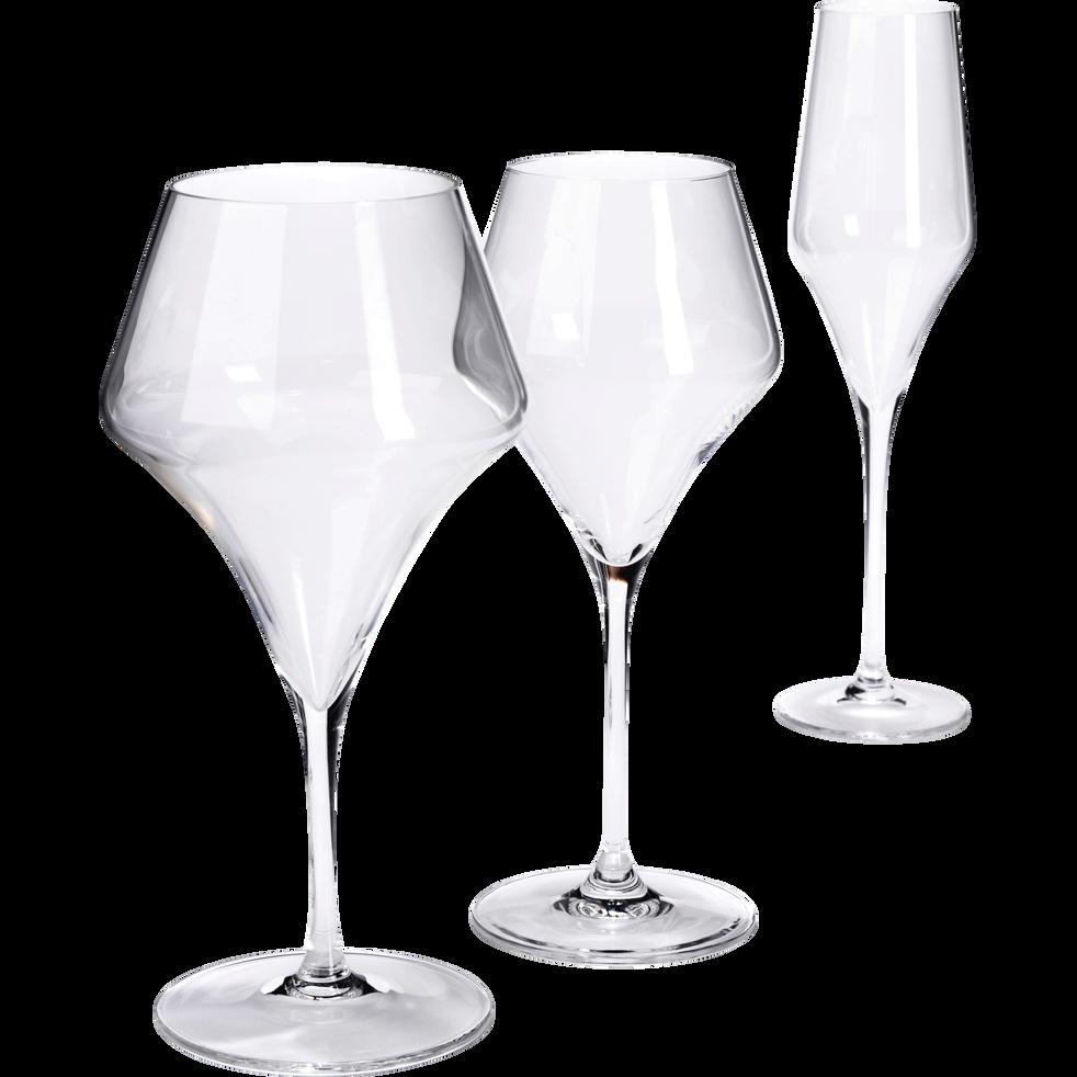 Flûte à champagne en cristallin 22cl-Aram