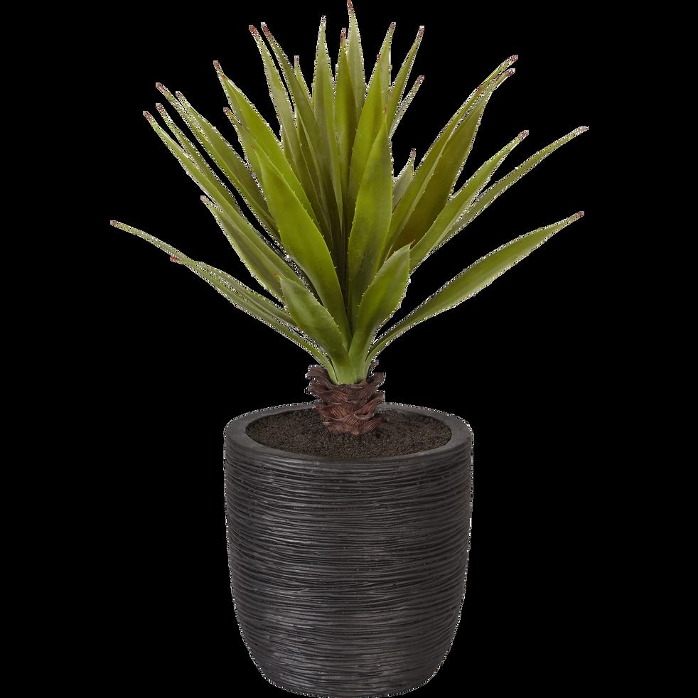 plante artificielle en pot noir h71cm yucca d co alinea. Black Bedroom Furniture Sets. Home Design Ideas