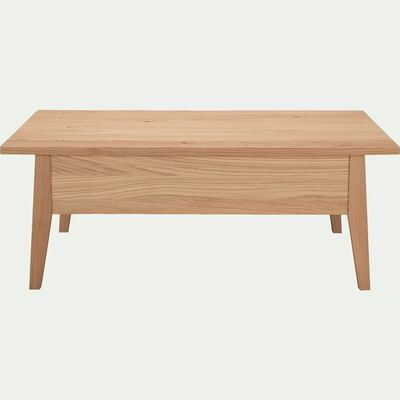 Table basse plaquée chêne avec plateau relevable-STOCKHOLM