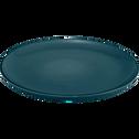 Assiette plate en faïence bleu figuerolles D27cm-LANKA