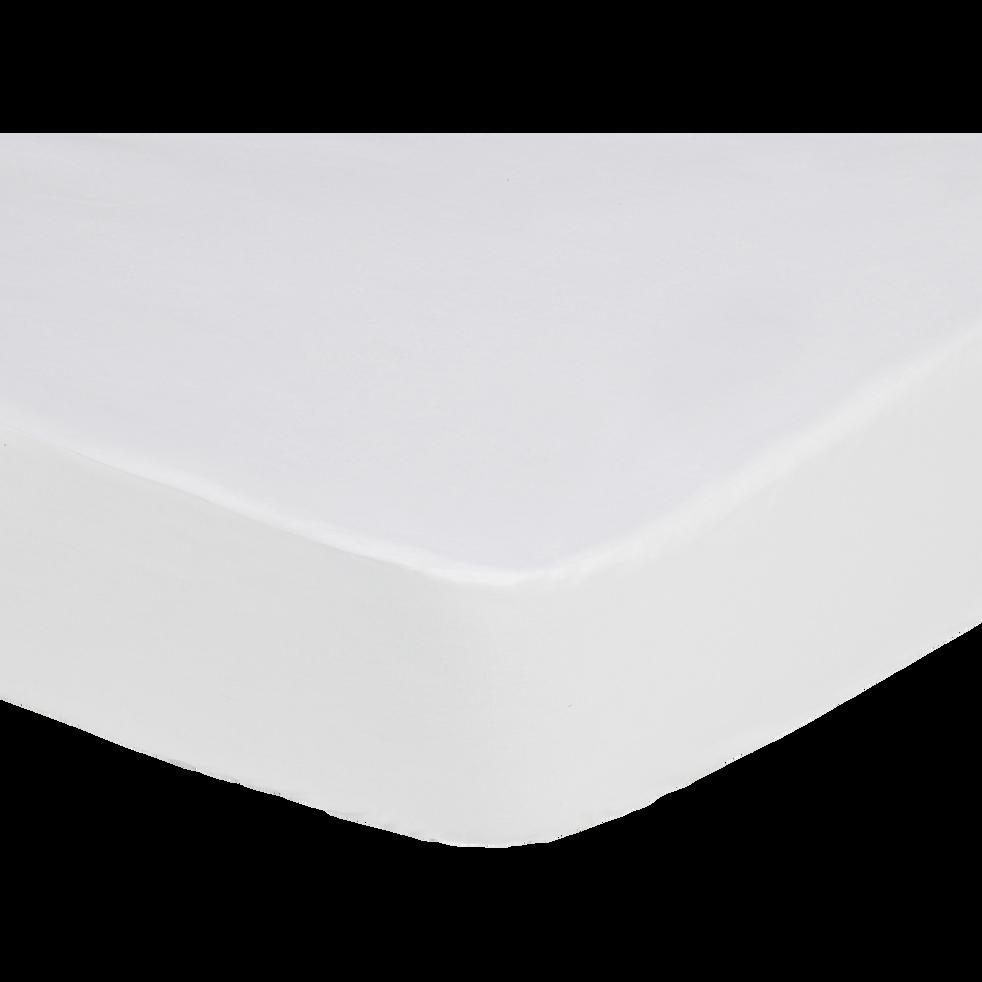 Protege Matelas Impermeable En Coton 90x200cm Bonnet 25cm Dry