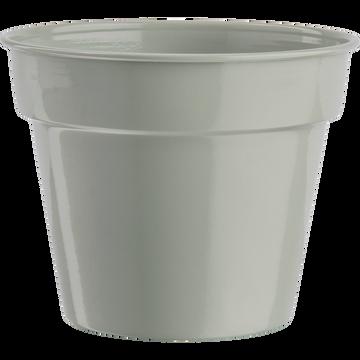 Cache-pot vert olivier en fer D11xH13cm-FLORA