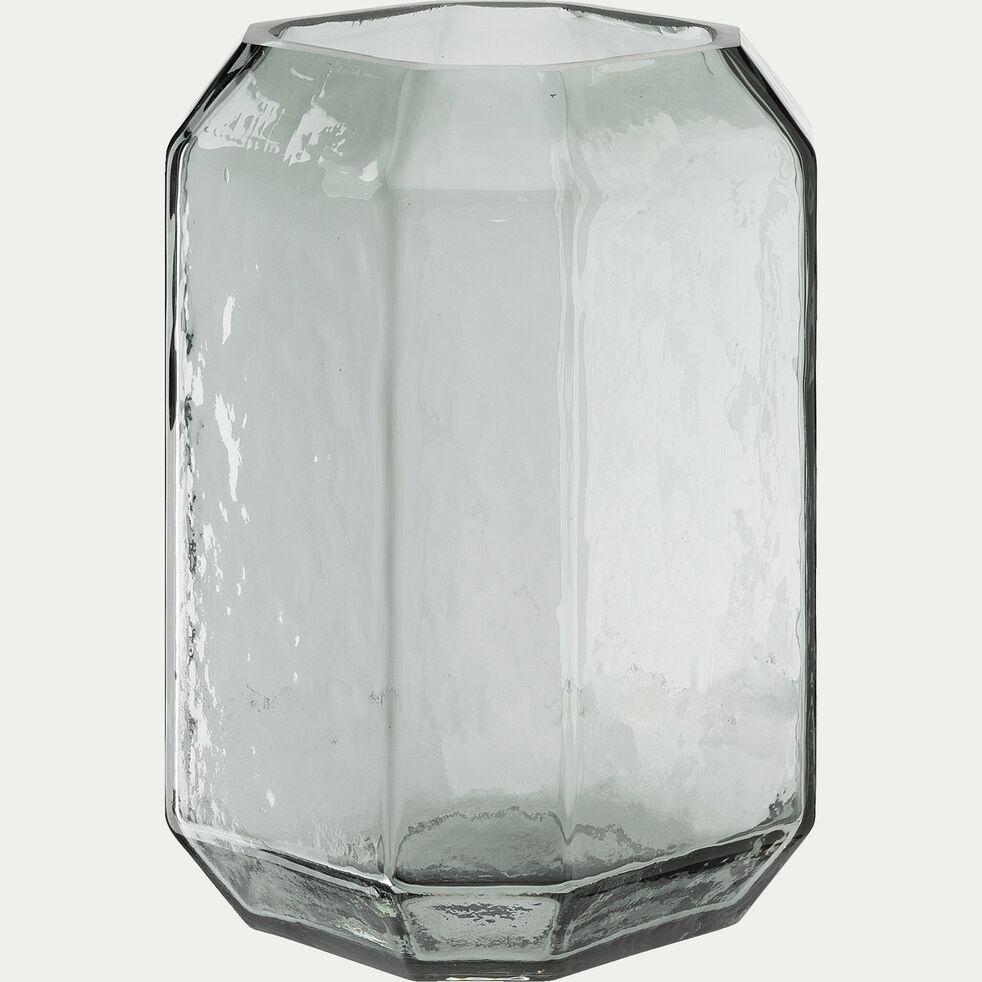 Vase en verre gris H22cm-COME