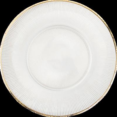 Assiette plate en verre transparent D27cm-COPPELIA