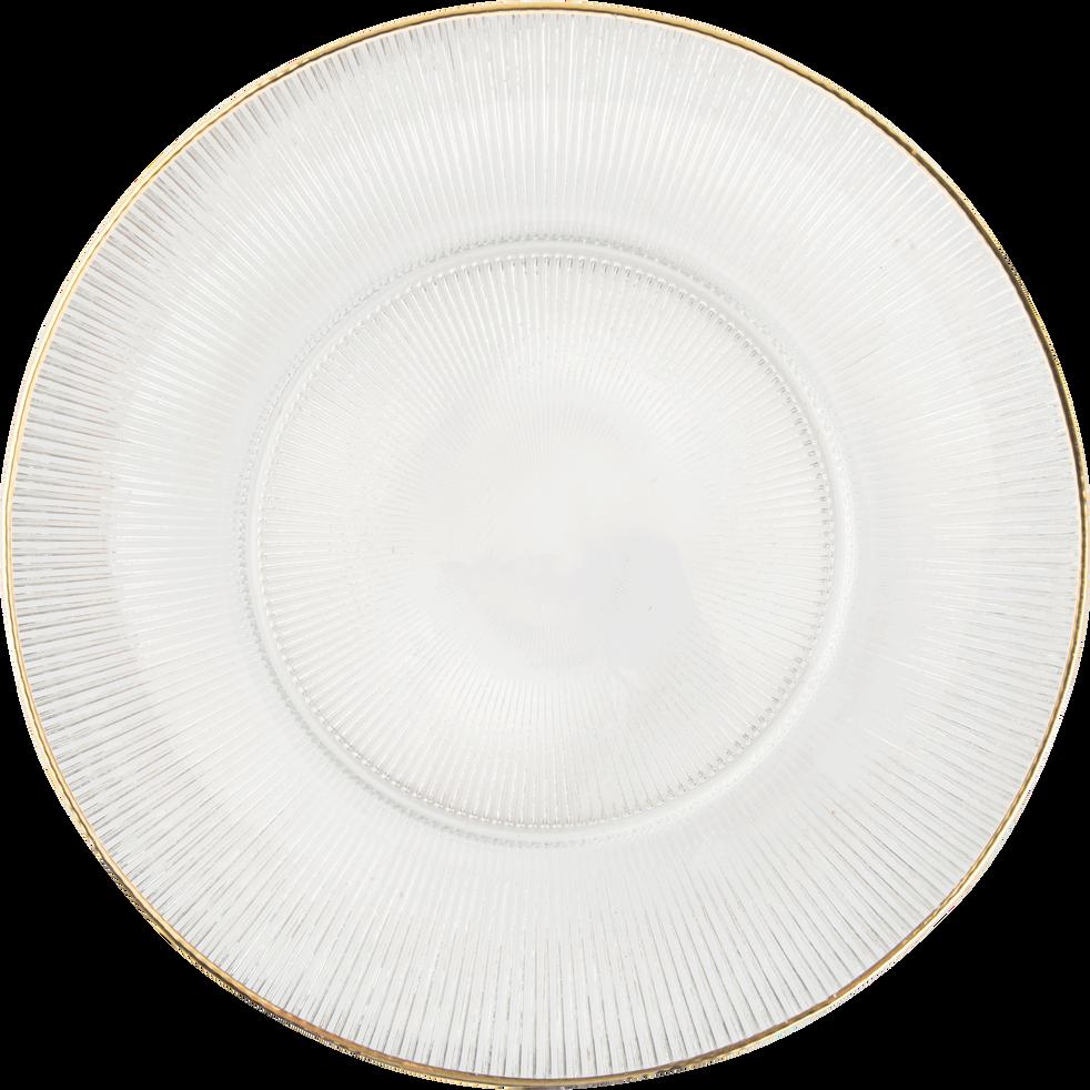 Assiette plate en verre transparent d27cm coppelia vaisselle de no l alinea - Table en verre transparent ...