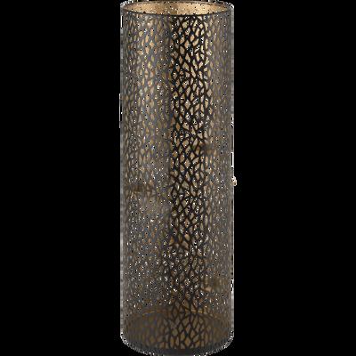 Photophore en métal brun H60cm-KABUTO