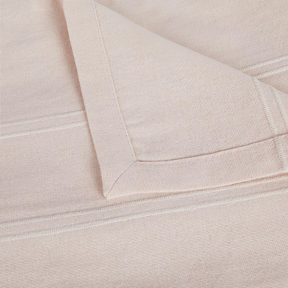 Couvre-lit tissé en coton - rose grège 230x250cm-BELCODENE