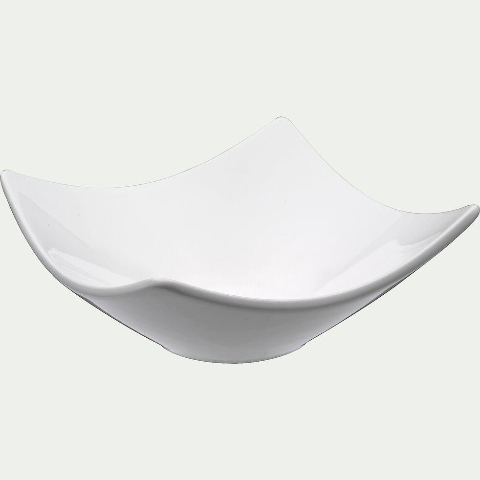 Assiette creuse en porcelaine - blanc-Queen