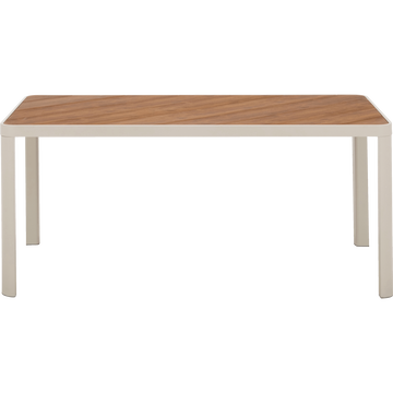 Table de jardin en aluminium et composite gris borie (4 à 6 places)-ALEP